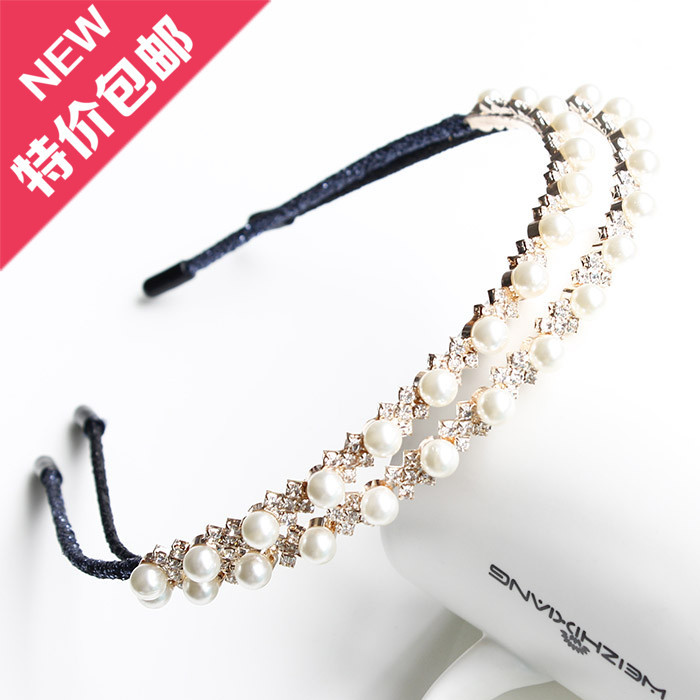 Han edition of the new hair headwear pearl diamond hair hoop winding head band pierre clastres archeology of violence new edition