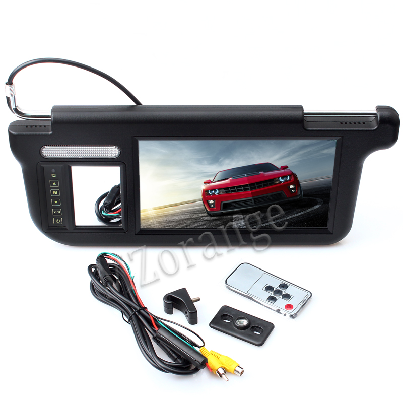 MZORANGE 1 piece Touch 9 inch Car Sun visor Monitor DVD TV Media Screen Remote Control Black Grey Beige left or right in Car Monitors from Automobiles Motorcycles