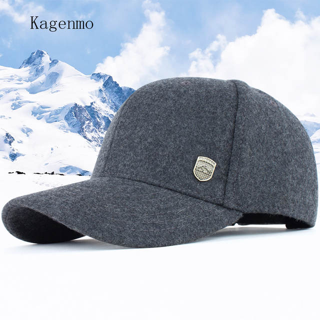 6dc978517f2 Kagenmo Male winter warm hat male hat woolen baseball cap winter cap the  elderly autumn and