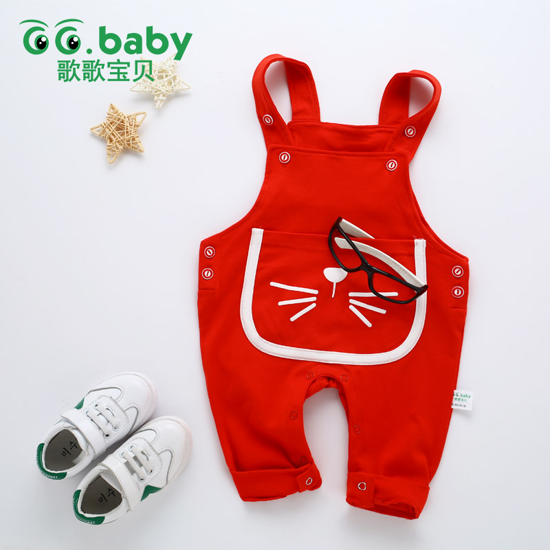 Cotton Autumn Baby Boys Pants With Suspenders Girls Newborn Suspender Pants Baby Trousers Lion Toddler Infant Boy Pants Winter