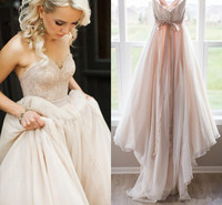 Румяна Розовые Свадебные платья 2019 тюль Принцесса Милая спинки Лук Sash Boho пляж свадебное платье Robe de Mariage