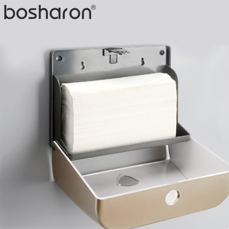 640f7b220cc Bathroom Paper Towel Dispenser Tissue Box Kitchen Z Folding Sheet Tissue  Holder Wall Mounted ABS Plastic Material Nice Durable-in Tissue Boxes from  Home ...