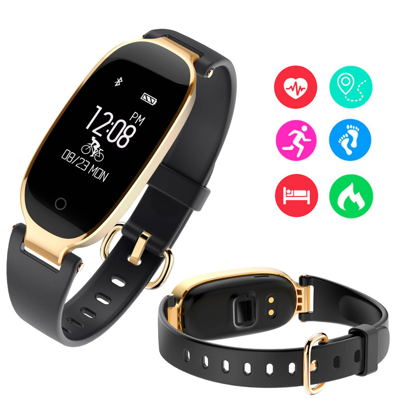 Free Shipping Alloy S3 Smartband Activity Fitness Bracelet Tracker Functional Heart Rate Tracker For women For vivo health watch