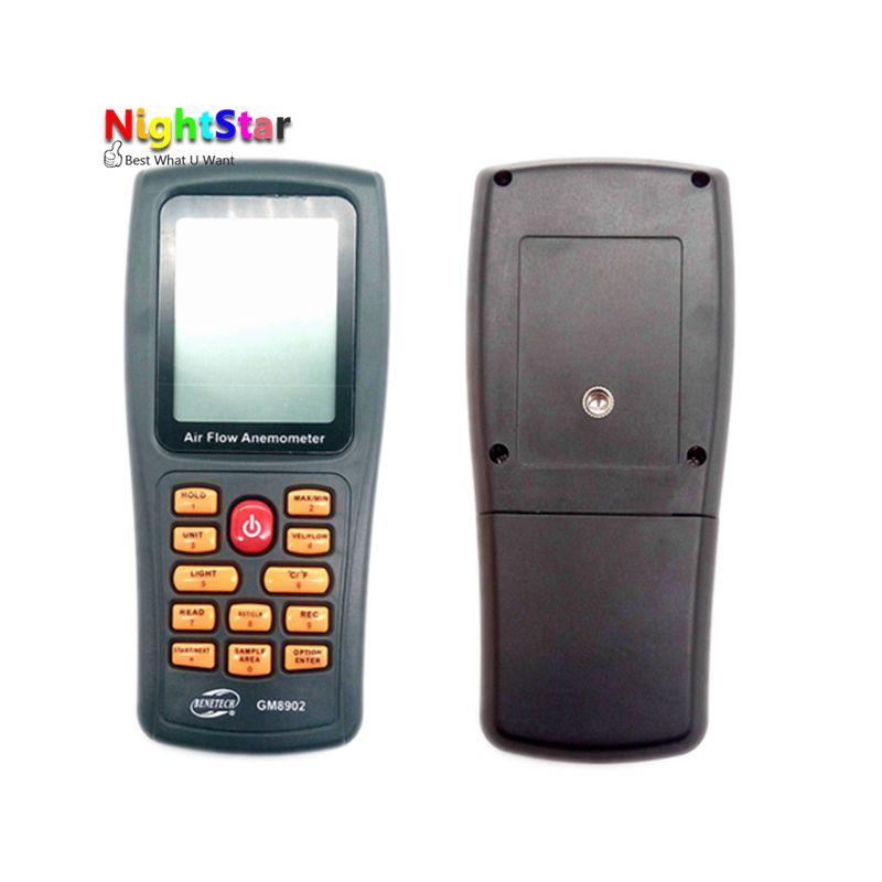 NS8902 anémomètre de débit d'air vitesse du vent LCD thermomètre numérique électronique à main jauge de vitesse du vent gamme 0.3 ~ 45 m/s - 5