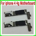 100% original 16g desbloqueado placa principal para iphone 4 4g motherboard com chips & 100% bom trabalho frete grátis