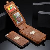 CaseMe Multifunctional Phone Case For Apple IPhone 7 6 6s Plus Genuine Leather Wallet Bag Flip