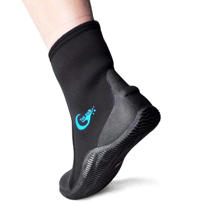 JINBEILEE Plongée Bottes 5mm Snorkeling Chaussures Non-slip Anti-corail Patauger Surf Chaussures Plage Plongée Chaussures Étanche dur-Portant