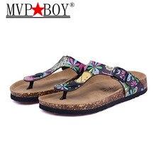 Plus Size 35-44 45 New Beach Cork Flip Flops Slipper Casual Summer Mixed Color Outdoors Valentine Sandals Flat Shoe цены онлайн