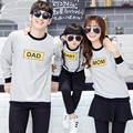2017 New Kids Clothes Cotton Striped long sleeve T-shirts family Sports suit Boys Girl Clothes Father Mother Hoodies Family Look