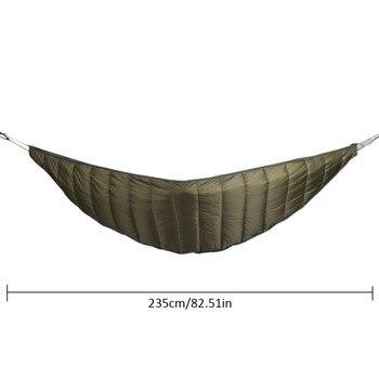 Outdoor Camping Full Length Hammock Underquilt Ultralight Winter Warm Under Quilt Blanket Cotton Hammock 6
