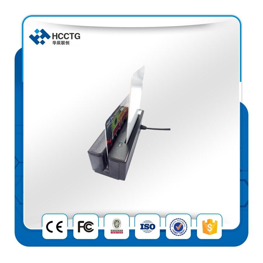 USB Portableb 3 Pistes Magnétique lecteur de cartes + IC puce intelligente lecteur de cartes HCC100