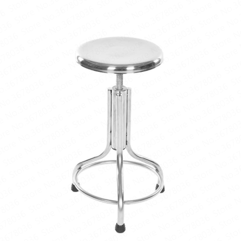 New European Bar Stainless Steel Screw Lift Bar Chair Home Retro Back Lift High Stool Front Cash Register Bar Chair