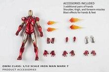 Presale 1/12 Scale Alloy Iron Man Movable MARK 7 MK7 MKVII Toy Action Figure Collecte Figure Doll Model цена