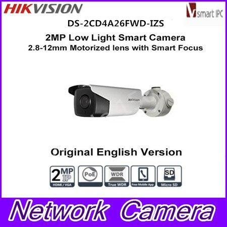Hikvision DS-2CD4A26FWD-IZS 2MP Bullet IP Camera 2.8-12mm or 8-32mm Focus IP67 Security Camera car license plate Camera видеокамера ip hikvision ds 2cd2642fwd izs цветная