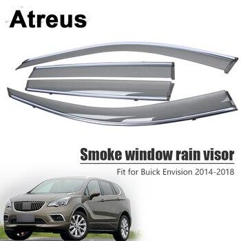Atreus 1 set  For Buick Envision 2014 2015 2016 2017 2018 High Quality Smoke Window Rain Visor ABS Vent Sun Deflectors Guard