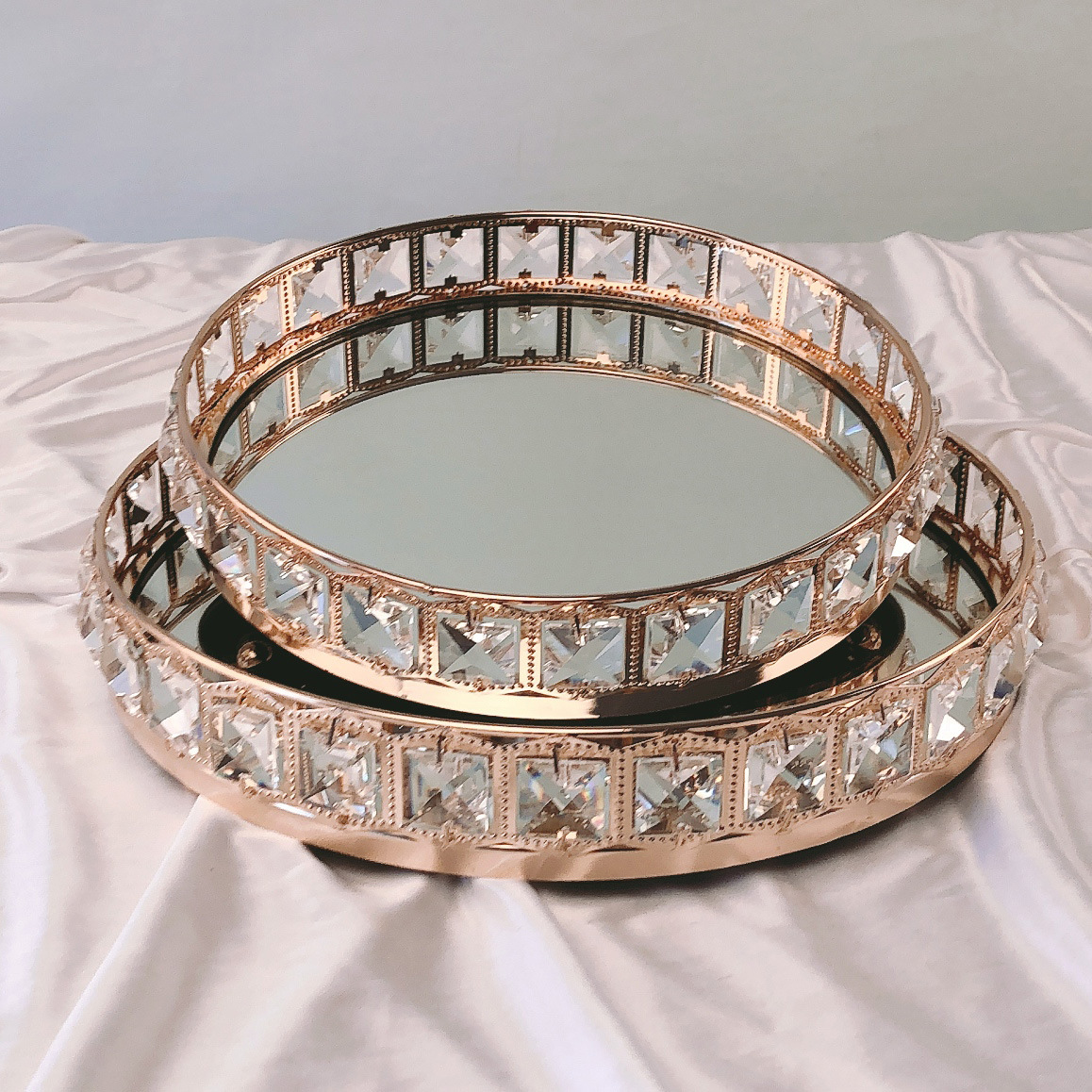mesa de cozimento suprimentos redonda bandeja de bolo prata & ouro