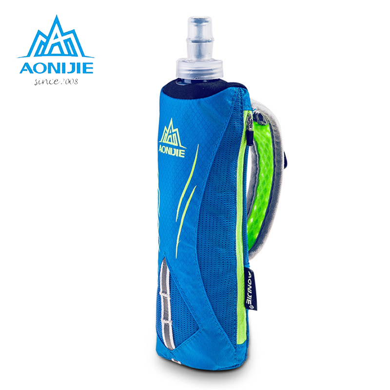 AONIJIE Outdoor Water Bottle Pouch Marathon Kettle Pack Sports Bag Cycling Running Hand Hold Optional Kettle Bag+500ml Kettle aonijie foldable soft water bag outdoor sports kettle water storage bottle running hiking travel flask bottle 250ml 500ml