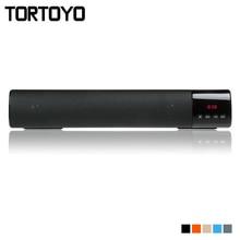 Tortoyo Портативный 10 Вт Беспроводной Bluetooth Динамик Саундбар Super Bass стерео громкоговоритель FM громкой связи TF часы с ЖК-дисплей для телефона