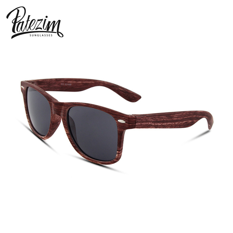 Women Imitation Wood Unisex Sunglasses Big brand designer Men uv400 lens protect eyes Retro Origina frame sunglasses Fashion