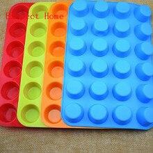 60 шт. DIY силиконовая форма для капкейков 24 чашки креативные формы для торта антипригарные 4 цвета инструменты для моделирования кексов