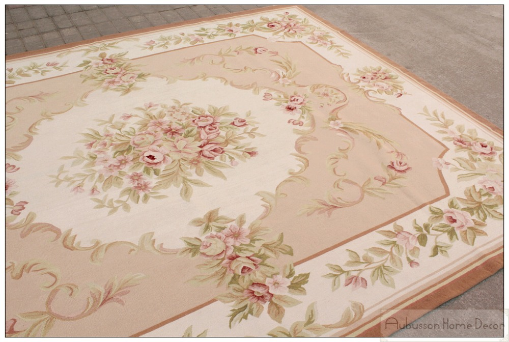 Aubusson style carpet carpet vidalondon for Deco shabby chic pas cher