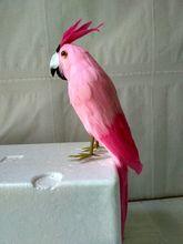 new simulation parrot toy plastic&fur pink parrot model gift about 30cm стоимость