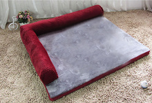 COXEER Detachable Cat Dog Foam Bed Sofa Fits for Within 12.5kg Pets(Maroon, M)