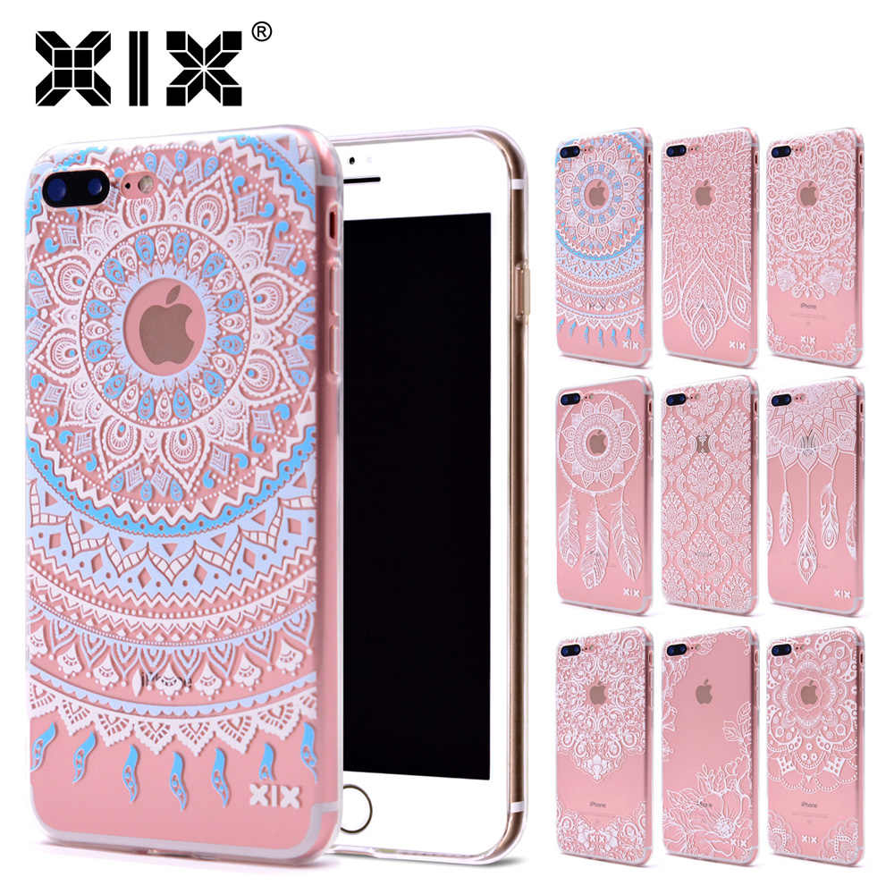 XIX for Funda iPhone X Case 5 5S 6 6S 7 Plus X XS Max XR Mandala Design for Cover iPhone 7 Case Soft TPU for Capa iPhone 8 Case