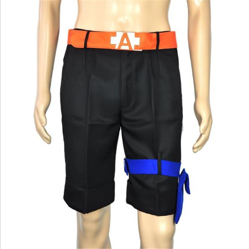 BOOCRE Anime ONE PIECE Cosplay Portgas D Ace Costumes Pants Black Shorts Unisex Adult Clothing