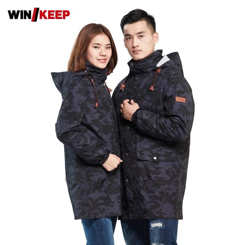 Зимняя мужская камуфляжная теплая флисовая куртка, Женская ветровка с капюшоном, лыжная куртка для сноуборда, зимняя Лыжная куртка для альп