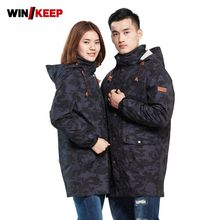 Winter Outdoor Herren Camo Warme Fleece Mantel Damen Hoody Windjacke Snowboard Ski Jacke Schnee Bergsteigen Skifahren Mantel(China)