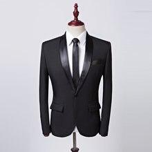 Мужская Свадебная куртка для жениха красная черная синяя с лацканами