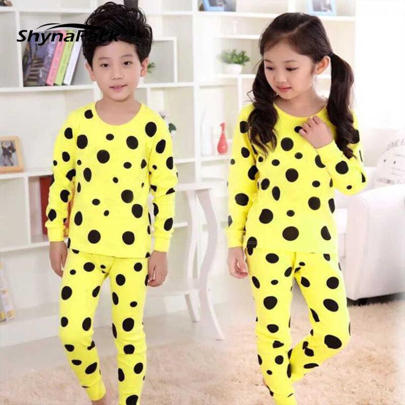 Мужская домашняя одежда пижамы для девочек и мальчиков свитер брюки комплект  модной детской пижамы детские для 8193057af4064
