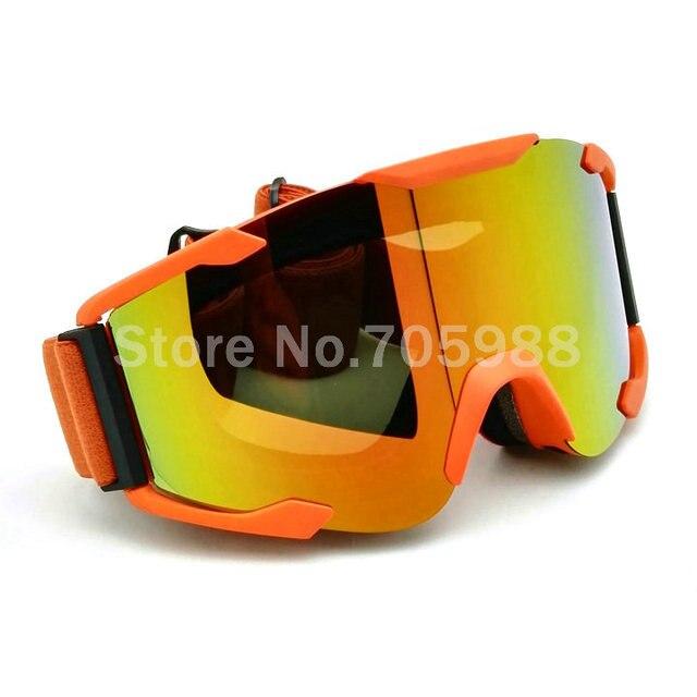 Unisex Gafas Lente Humo Marco Naranja Cascos Off Road Gafas Motocross Gafas Gafas Deporte para La Motocicleta ATV Dirt Bike KTM