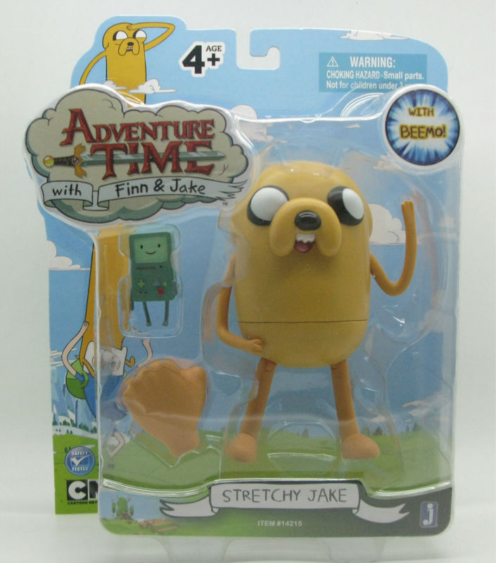 JAZWARES NEW Adventure Time 5 inch action figure stretchy jake children animation toys tamrac adventure zoom 5