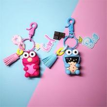 Cute Sesame Street Keychain Animal Red Emma Key Ring for Women Girl Bag Handbag Purse Backpack Car Chain Pendant