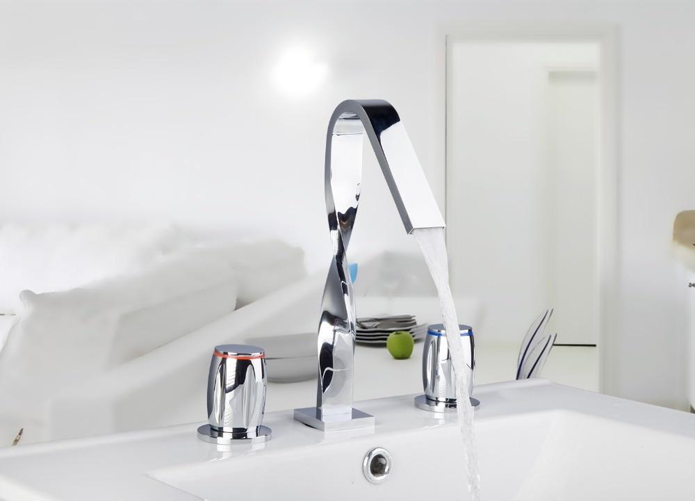 Torayvino 54G Polished Chrome Bathtub Tub Faucet w/ Hand Shower Spray Deck Mount torayvino tap bathroom shower faucet with chrome polished cold