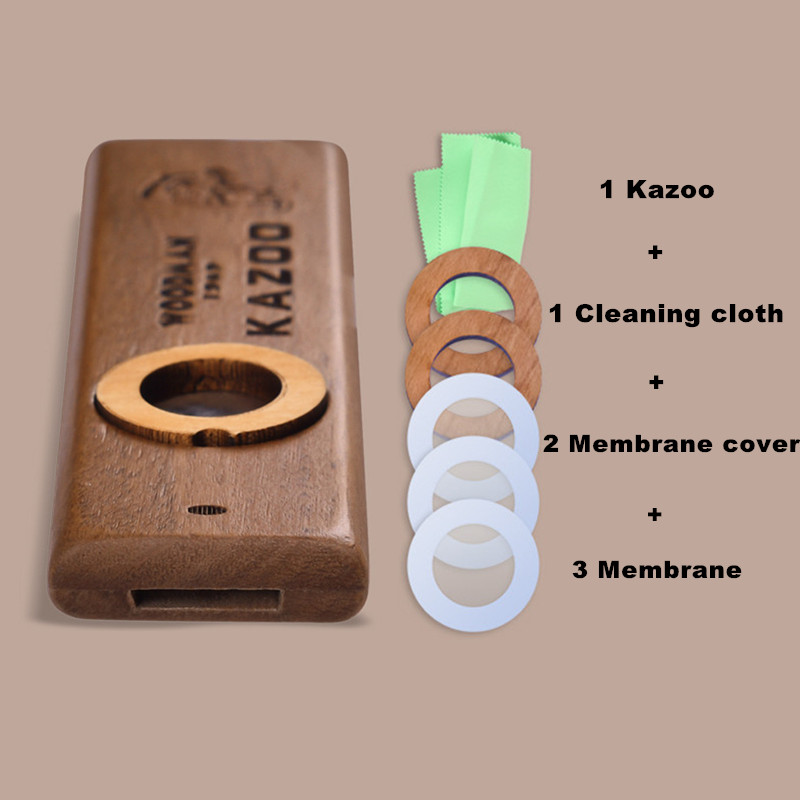 Popular Wooden Woodman Kazoo Orff Instruments Ukulele Guitar Partner Wood Harmonica With Metal Box