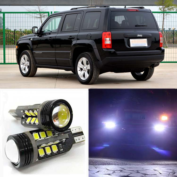 2pcs High Quality Superb Error Free 5050 SMD 360 Degrees LED Backup Reverse light Bulbs T20 For Jeep Liberty 27 smd 5050 led bulbs turn brake backup reverse tail light yellow 150 degrees bau15s py21w auto led bulb 12v