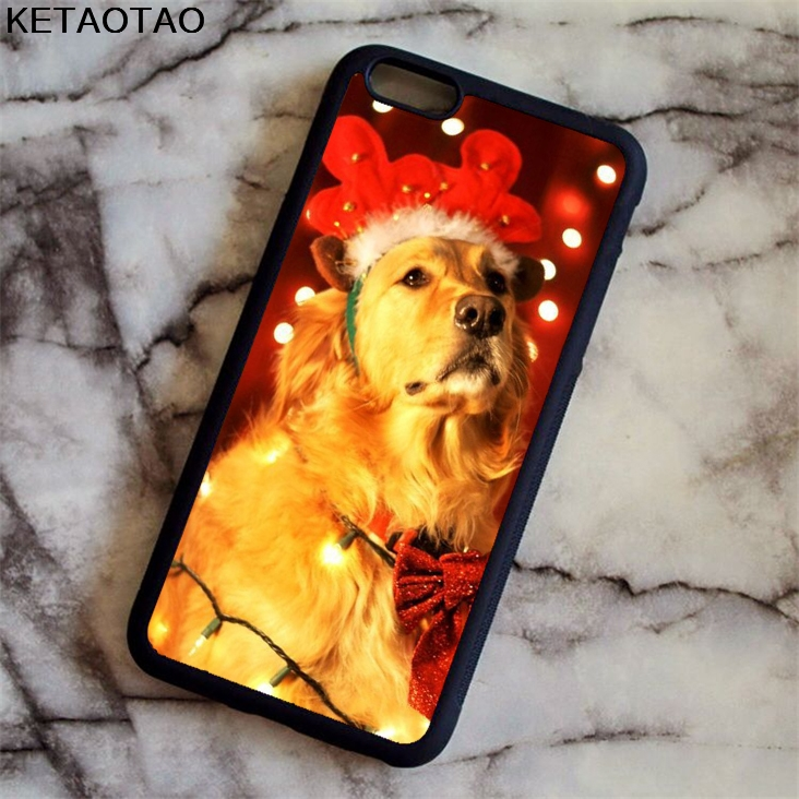 KETAOTAO Cute Pet Dog Golden Retriever Phone Cases for iPhone 4S 5S 6 6S 7 8 X PLUS for Samsung S8 Case Soft TPU Rubber Silicone
