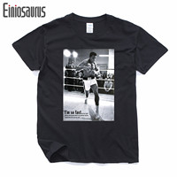 Men Summer T Shirts MUHAMMAD ALI Print T Shirt 100 180g Combed Cotton Fitness Casual MMA