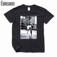 Men Summer T Shirts MUHAMMAD ALI Print T Shirt 100 180g Combed Cotton Fitness Casual MMA