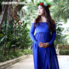 SMDPPWDBB Maternity Dresses For Photo Shoot Maternity Gown Split Front Chiffon Plus Size Dress Women Maternity