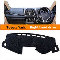 Hight Quality Right Hand Dirve Noble Style Car Dashboard Pad For Toyota Yaris Adumbral Mat For