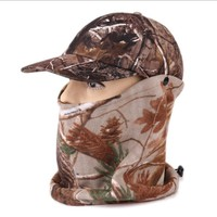 Multifunction Winter Camouflage Cap for Hunting and Fishing Camo Military Hats for Men Women with Full Face Mask Neck Warm Scarf