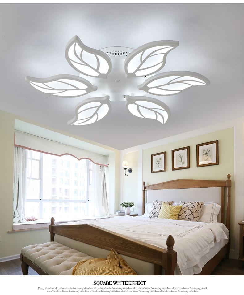 HTB1E7HvfuOSBuNjy0Fdq6zDnVXaK Special discount 6 heads  New Design Acrylic Modern Led Ceiling Lights lampe plafond avize Indoor 4 shapes 100-240V