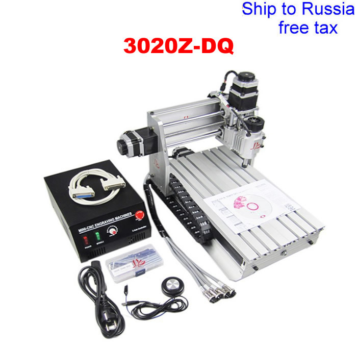 3020Z-DQ CNC milling machine with ball screw and tool auto-checking instrument to Russia free tax фотобарабан panasonic dq dcd100a7 dq dcd100a7
