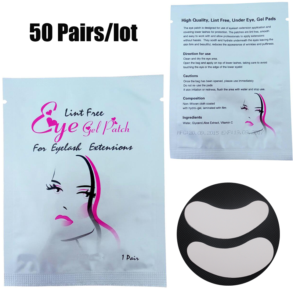Thinkshow 50pairs/lot Hydrogel Eye Patches Eye Pads Moisturizing False Eyelashes Accessories Face Mask Wimper Extensions Tool