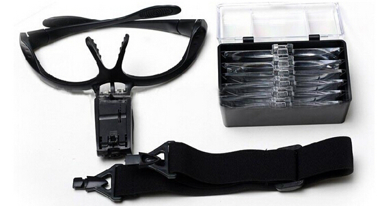 1.5X 2.5X 3.5X Multi-power Eyewear Eyelash Extension Magnifier Magnifying Glass Loupe with Clip for Medical Usage