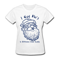 Women's Tumblr I Got Hos In Different Area Codes Hipster Style Crew neck Female T shirts
